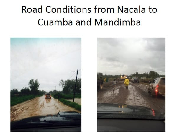 Road Conditions From Nacala To Cuamba And Mandimba