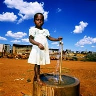 Girl with water image