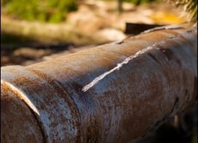 Old water pipe image