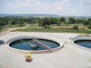 Waste water treatment works plant image