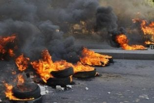 Burning tyres image