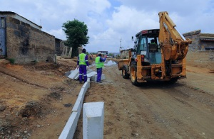 Diepsloot road works
