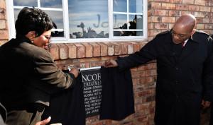 President Jacob Zuma and Minister Nomvula Mokonyane launch the Ncorha WTW
