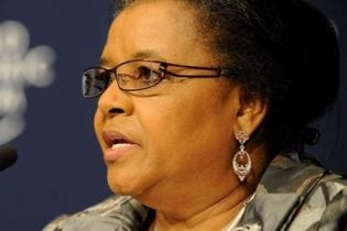 Minister of Environmental Affairs, Dr Edna Molewa