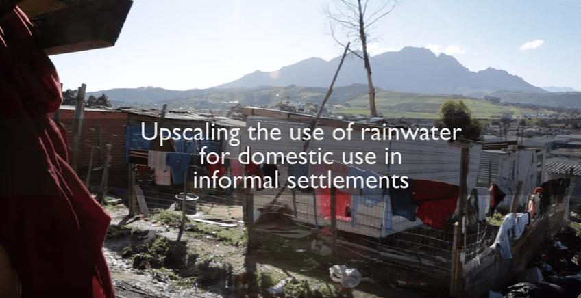 Making rainwater usable in informal settlements