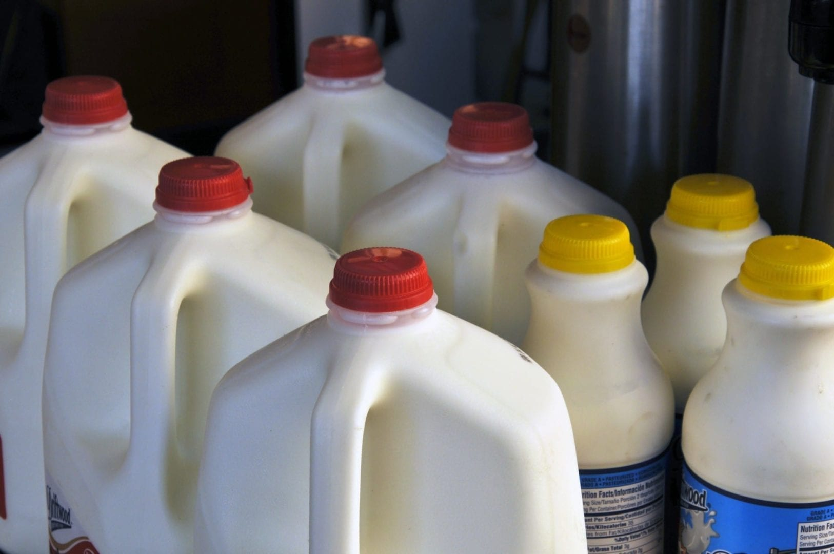 Milk bottles are good polyolefin plastics to recycle.