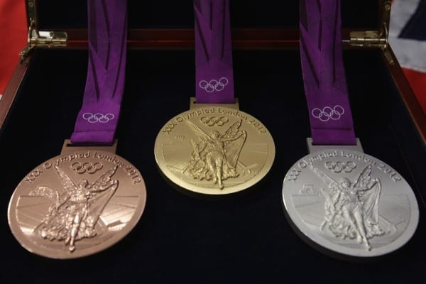 Gold, silver and bronze Olympic medals will be made from old electronics foe the 2020 Tokyo Olympics and Paralympics. Picture: Supplied.