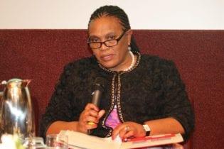Barbara Thompson Deputy Minister Environmental Affairs