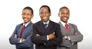 Nkoko Sekete, regional manager, Dr PD Sekete, founder and Thabang Sekete, business development manager
