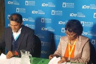 CEO of the WRC, Dhesigen Naidoo and CEO of the NCRST,Enid Keramen.