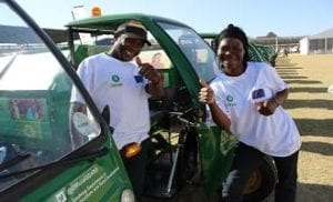 Waste pickers with scooter Photo Ekurhuleni