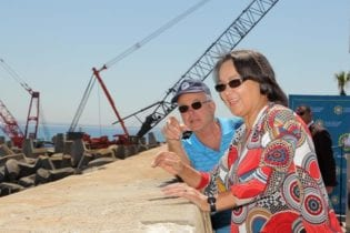 City of Cape Town executive mayor, Patricia de Lille visiting the site of the new desalination plant Photo: City of Cape Town