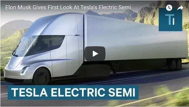 Tesla unveils game changing all-electric semi-truck
