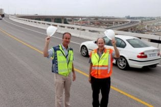 The new ramp at Mt Edgecombe Interchange