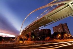 The award winning Markgraaf pedestrian bridge, Bloemfontein