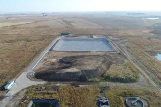 Completed Phase 1 (cell no1) of the new Devon Waste Disposal Facility