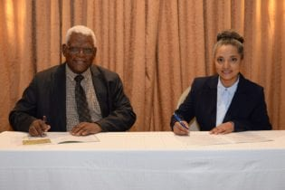 Deshika Kathawaroo, CEO of Eco-Industrial Solutions and Ben Mphahlele, Group CEO of the Limpopo Economic Development Agency
