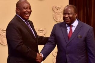 President Cyril Ramaphosa and Fiance Minister Tito Mboweni Photo: The Presidency