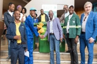 The launch of the recycling initiative at Tshwane South College, ODI Campus
