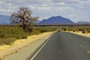 African road in Kenya image