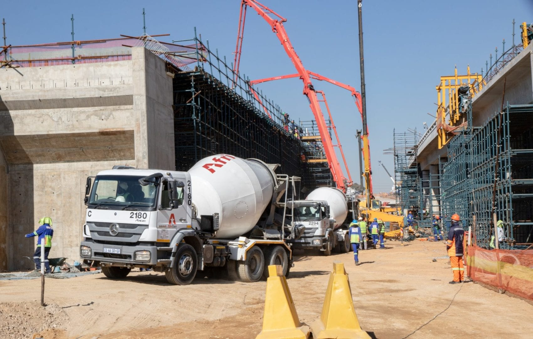 AfriSam concrete expertise for WBHO's BRT contract